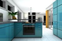 Haus wertvoller - blaue Küche