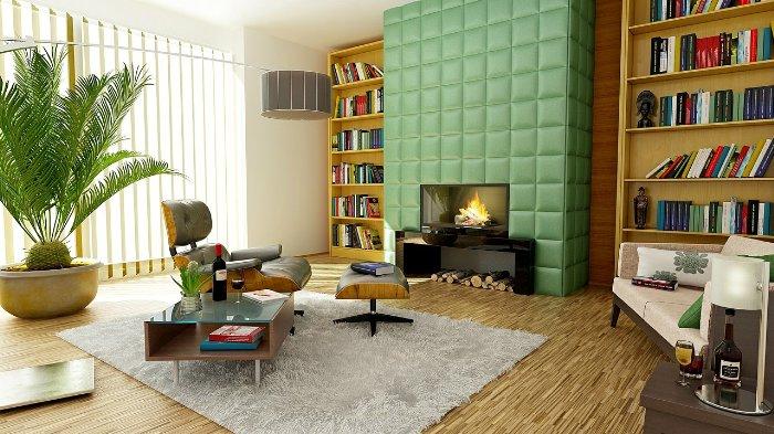 Heizkosten sparen durch einen Kamin im Wohnzimmer
