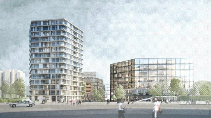 Hamburger Postbankareal - MAGNA Real Estate treibt die Projektentwicklung des Postbankareals in der Hamburger City Nord konsequent voran / Bildrechte: MAGNA Real Estate AG, Sauerbruch Hutton
